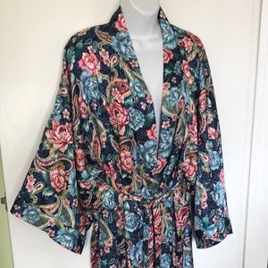 MORGAN TAYLOR Satin Robe Stunning! Like New! Sz 1x